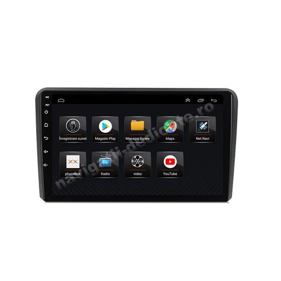 Navigatie Android 8.1 Audi A3 Ecran 9 inch IPS Led NAVD-E9048