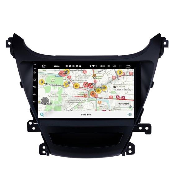 Navigatie Android Hyundai Elantra 2014 2GB Ram Ecran 9 inch NAVD-AC9035