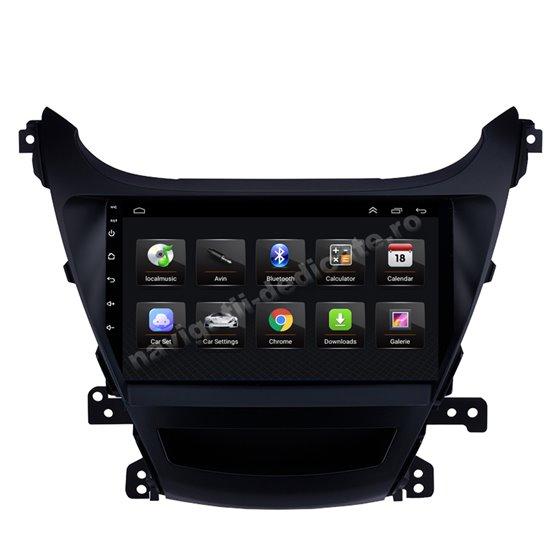 Navigatie Android 8.1 Hyundai Elantra 2014 Ecran 9 inch IPS Led NAVD-E9035