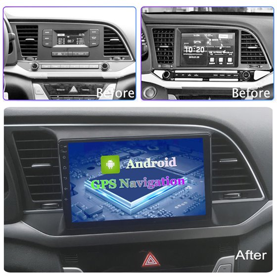 Navigatie Android 8.1 Hyundai Elantra 2016-2018 Ecran 9 inch IPS Led NAVD-E9034