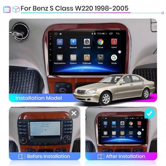 Navigatie Android 8.1 Mercedes W220 S Class 1999-2005 Ecran 9 inch IPS Led NAVD-E9021