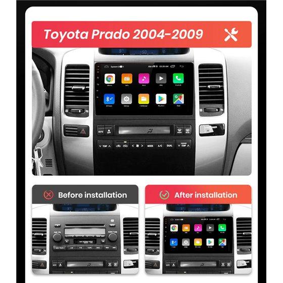 Navigatie Android 8.1 Toyota Land Cruiser Prado 2004-2009 Ecran 9 inch IPS Led NAVD-E9006