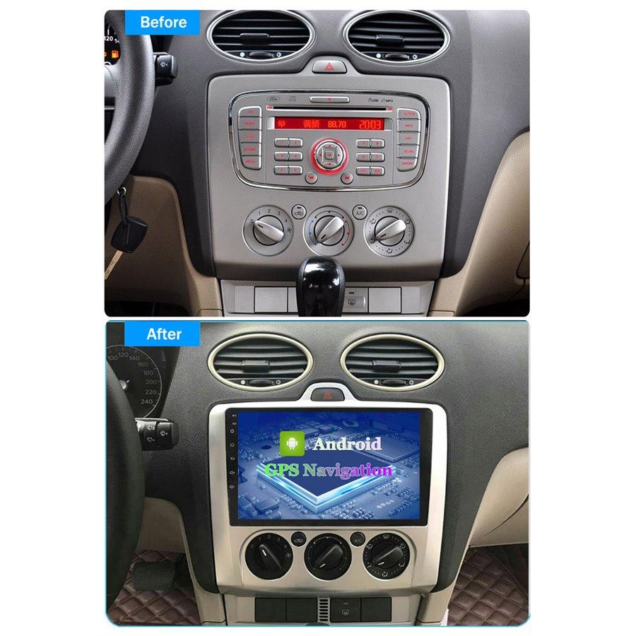 Navigatie Carplay Android 10 Ford Focus 2 AC Manual Octa Core 6GB Ram 128GB SSD Ecran 9 inch Ips NAVD-US90488AC