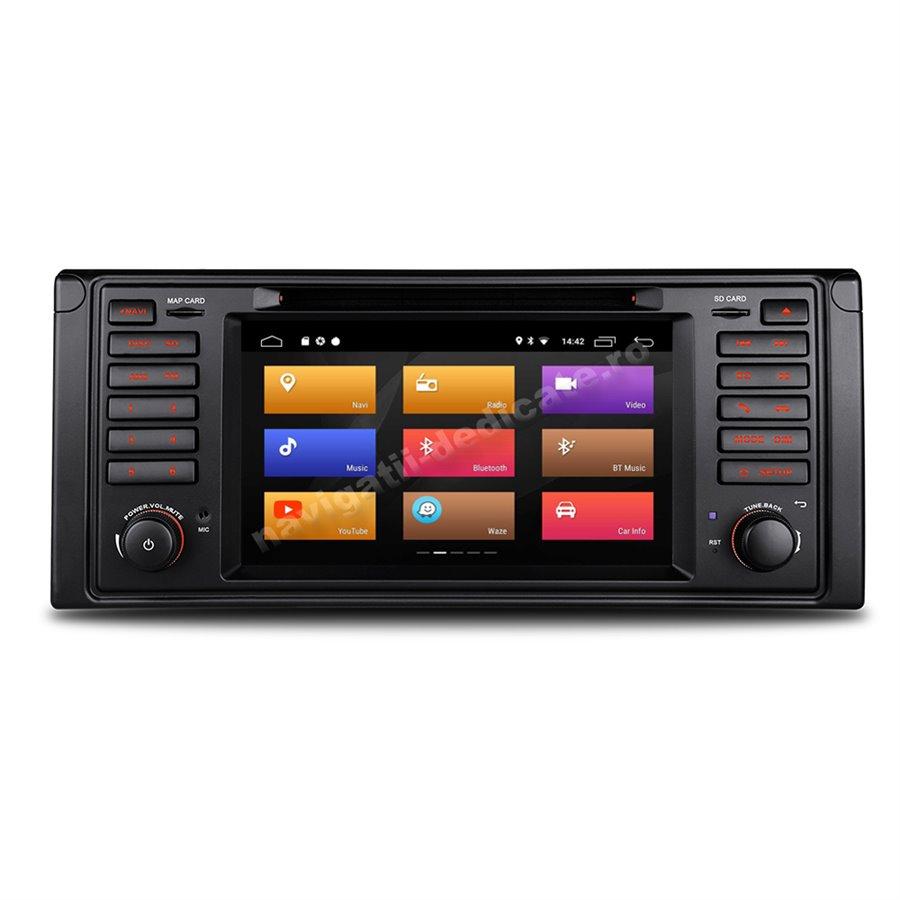 Navigatie Android 10 BMW E39 X5 E53 Waze NAVD-MT082