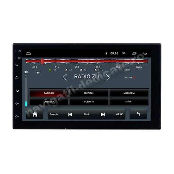 Carpad Navigatie Android 8.1 Nissan Hyundai NAVD-E902N OR