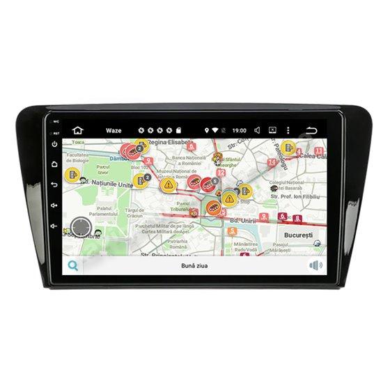 Navigatie Android 10 Skoda Rapid Seat Toledo Octa Core 6GB Ram 128GB SSD Ecran 9 inch NAVD-US9077