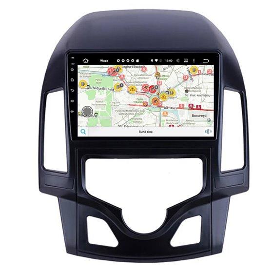 Navigatie Carplay Android 10 Hyundai I30 2009-2012 Clima Automata Octa Core 6GB Ram 128GB SSD Ecran 9 inch Ips NAVD-US90i30
