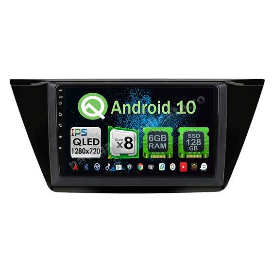 Navigatie Carplay Android 10 VW Touran 2016 Octa Core 6GB Ram 128GB SSD Ecran 9 inch NAVD-US91014