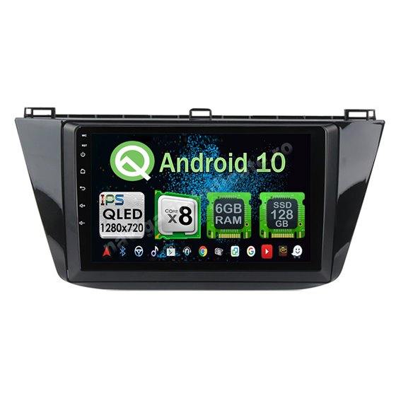 Navigatie Carplay Android 10 VW Tiguan 2017 Octa Core 6GB Ram 128GB SSD Ecran 9 inch NAVD-US91027