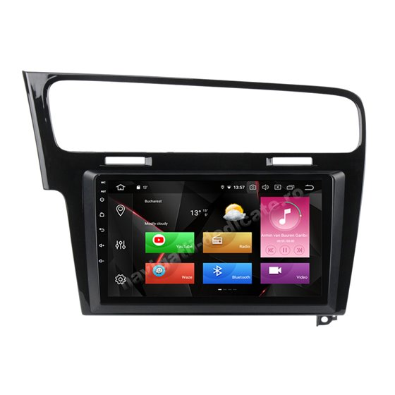 Navigatie Carplay Android 10 GOLF 7 Piano Black Octa Core 6GB Ram 128GB SSD Ecran 9 inch NAVD-US91028BK