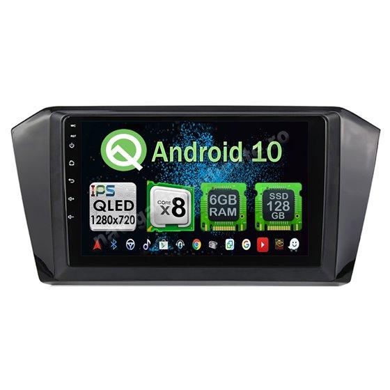 Navigatie Carplay Android 10 10 PASSAT B8 Octa Core 6GB Ram 128GB SSD Ecran 9 inch NAVD-US91017
