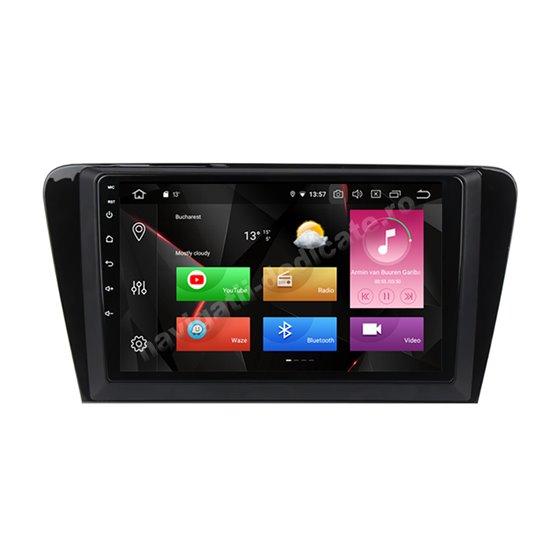 Navigatie Carplay Android 10 Skoda Octavia 3 Octa Core 6GB Ram 128GB SSD Ecran 9 inch NAVD-US5520