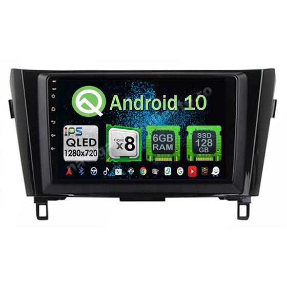 Navigatie Carplay Android 10 X-Trail Qashqai 2013-2016 low Octa Core 6GB Ram 128GB SSD Ecran 9 inch NAVD-US91029