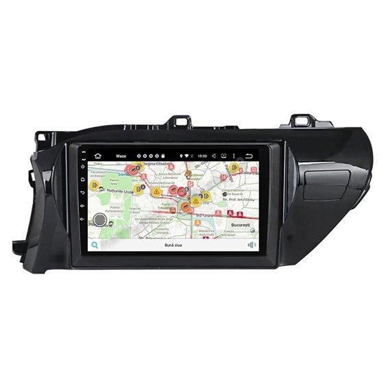 Navigatie Carplay Android 10 Toyota Hilux 2016-2020 Octa Core 6GB Ram 128GB SSD Ecran 9 inch NAVD-US91025