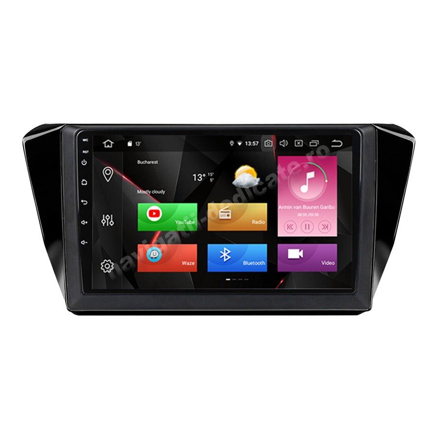 Navigatie Carplay Android 10 Skoda Superb 3 Octa Core 6GB Ram 128GB SSD Ecran 9 inch NAVD-US5525