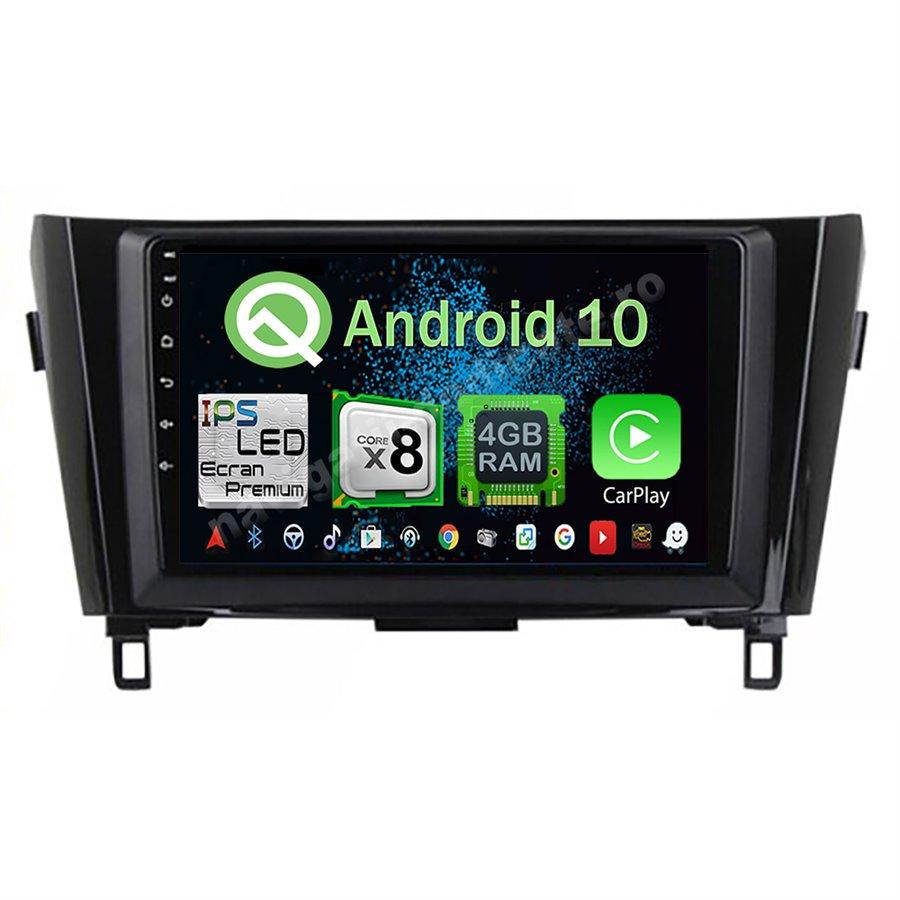 Navigatie Android 10 X-Trail Qashqai 2013-2016 low Octa Core 4GB Ram Ecran 9 inch NAVD-Z81029