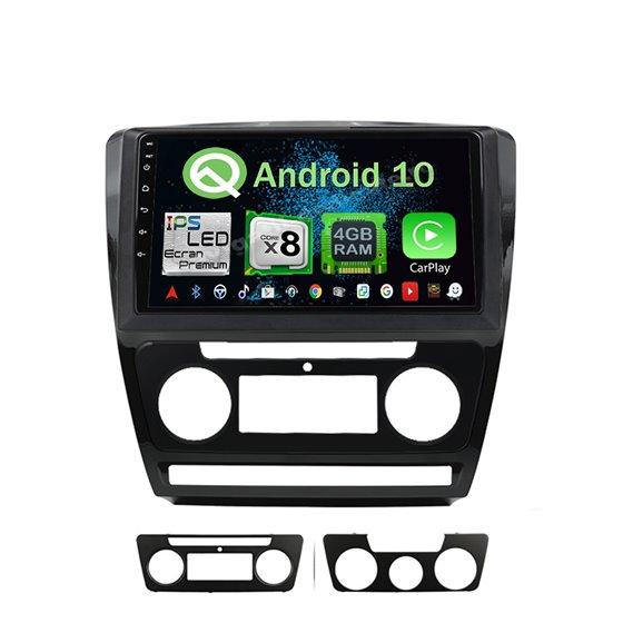 Navigatie Android 10 Skoda Octavia 2 Facelift Octa Core 4GB Ram Ecran 9 inch NAVD-Z10725