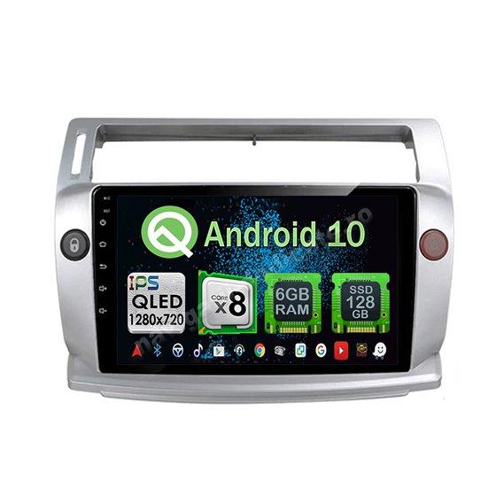 Navigatie Android Citroen C4 2005-2010 Octa Core 6GB Ram 128GB SSD Ecran 9 inch Ips NAVD-US9070