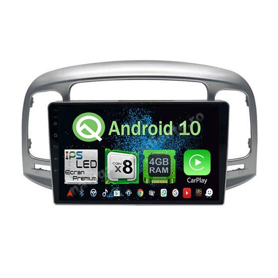 Navigatie Android 10 HYUNDAI ACCENT 2006-2011 Octa Core 4GB Ram Ecran 9 inch NAVD-Z8072