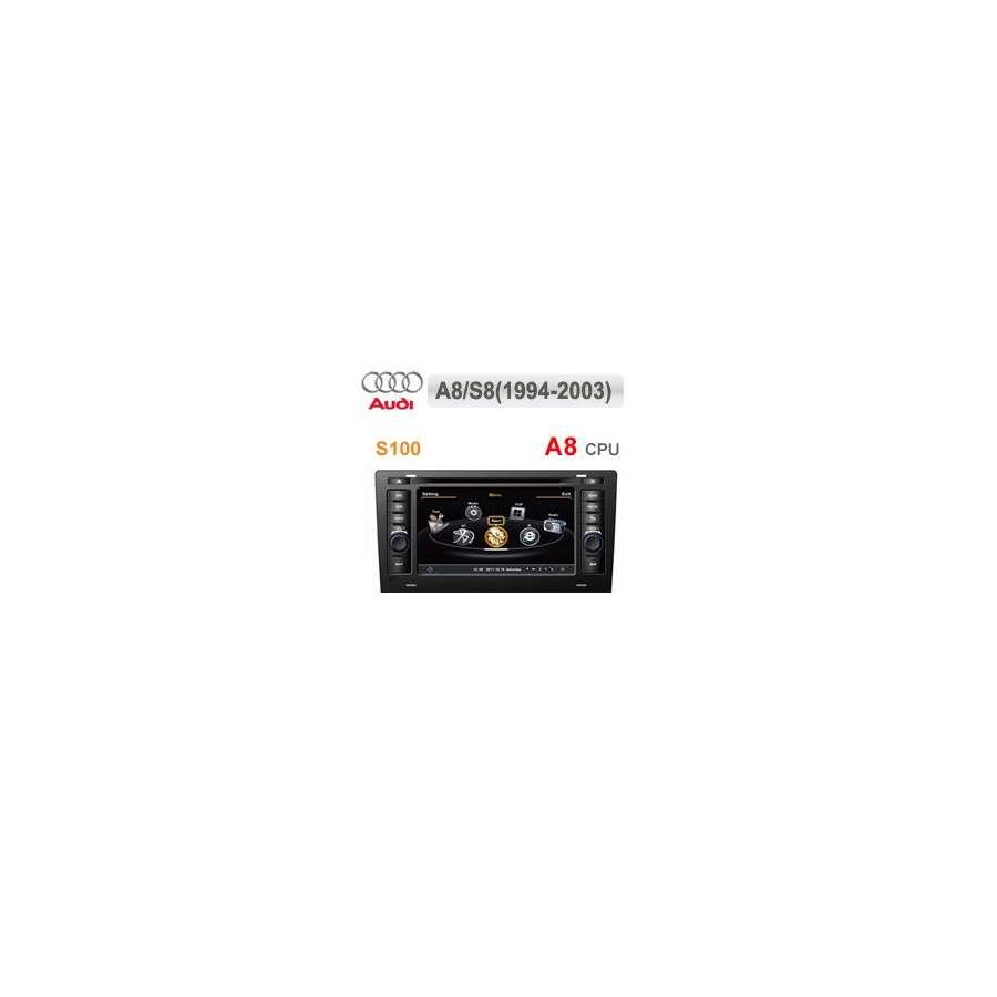 Navigatie Dedicata AUDI A8 1994-2003 DVD Auto GPS CARKIT Internet 3g NAVD-c221