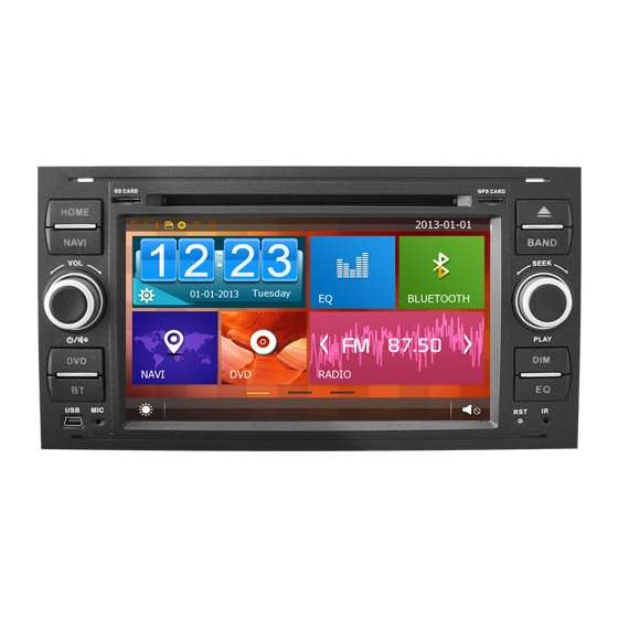 Navigatie Dedicata Ford FOCUS FIESTA FUSION KUGA Dvd Auto GPS CARKIT TV NAVD-D8488FB
