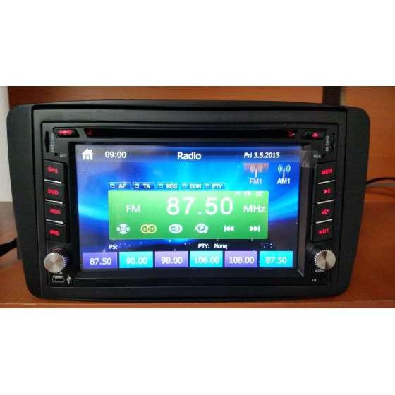 NAVIGATIE 2 DIN MERCEDES BENZ C CLASS W203 2000-2004 DVD GPS CARKIT NAVD-6205MB
