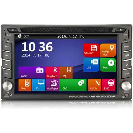 Dvd Auto Navigatie Mercedes Benz Ml W163 1997–2005 Gps Carkit Tv NAVD-6205ML
