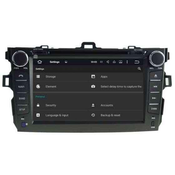 Navigatie Android Dedicata TOYOTA COROLLA DVD GPS AUTO CARKIT TV NAVD-P5749