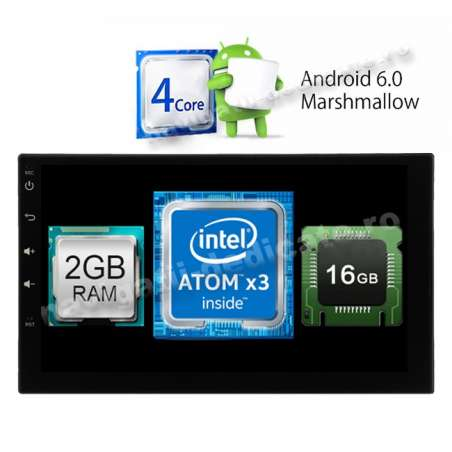 NAVIGATIE CARPAD 2DIN ANDROID 6.0.1 USB INTERNET Intel 2GB Ram NAVD-i902