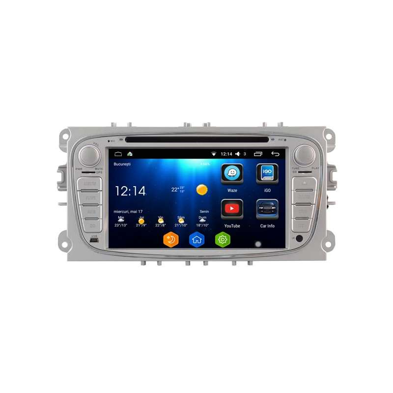 Navigatie Android 7 1 Octa Core Ford Focus Mondeo S-Max NAVD-T9457