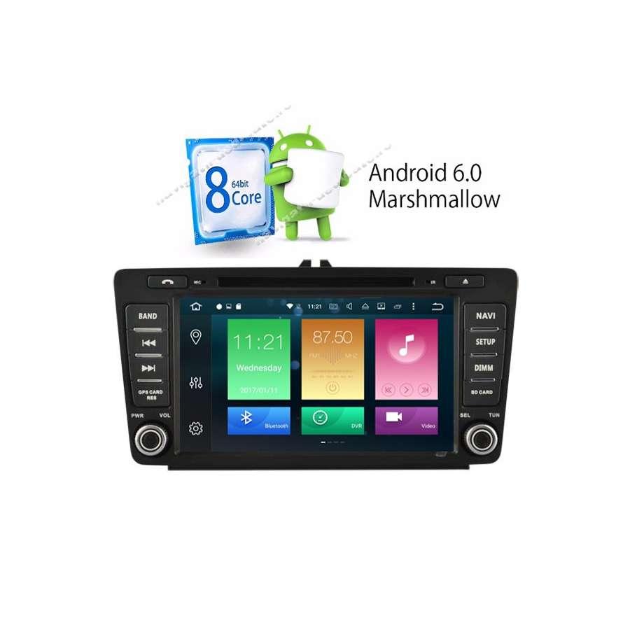 """Navigatie Android 6.0.1 Octa Core SKODA OCTAVIA 2 ECRAN 8"""" NAVD-P9725"""