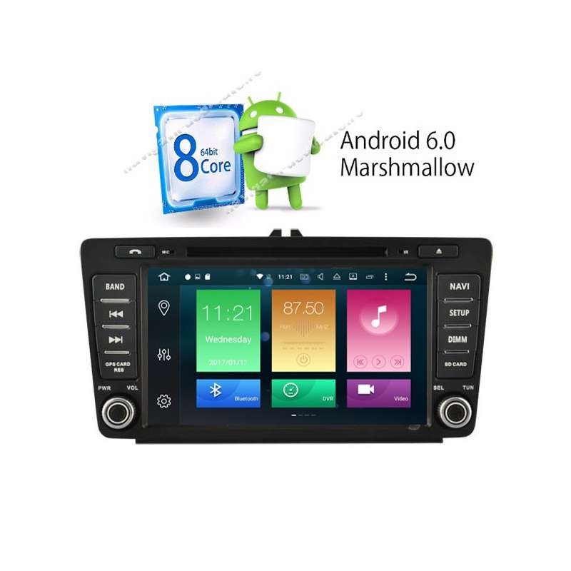 Navigatie android 6 0 1 octa core skoda octavia 2 ecran 8 for Photo ecran android 6
