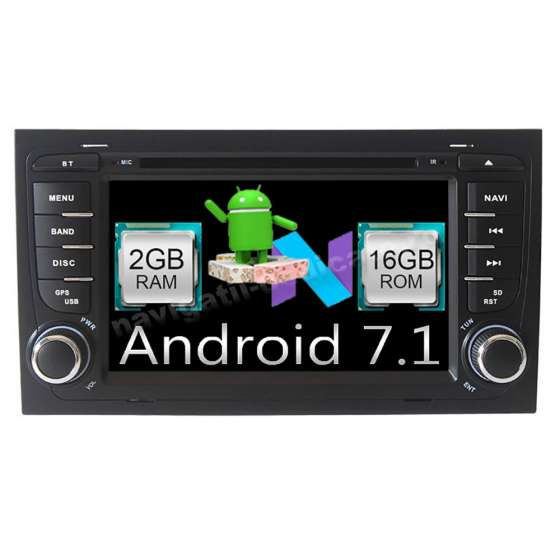 Navigatie Android 7.1 Audi A4 SEAT EXEO NAVD-A050