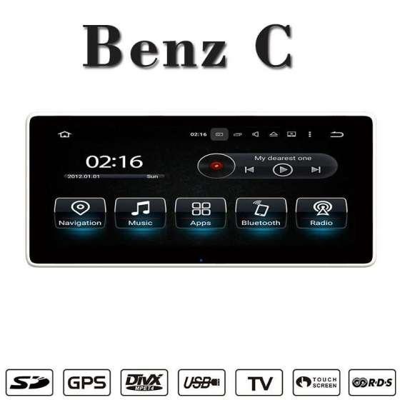 Monitor NAVIGATIE Android MERCEDES BENZ C CLASS W205 GLC X253 CARKIT NAVD-W205