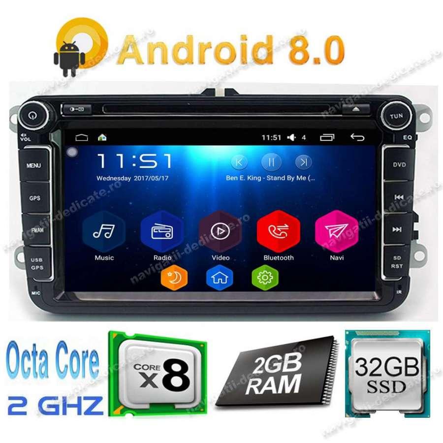 Navigatie Android 8.1 2GB RAM Volkswagen Skoda Seat NAVD-T9240 V2