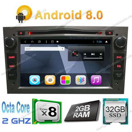 Navigatie Android 8.1 Octa Core Opel ASTRA H Vectra C ZAFIRA MERIVA NAVD-T019