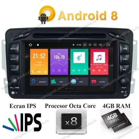 Navigatie Android 8.0 Octa Core 4GB Ram MERCEDES BENZ C CLASS VITO VIANO W203 2000-2004 NAVD-P571G