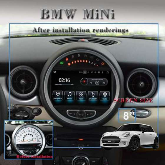 NAVIGATIE Android 8.0 Octa Core 4GB Ram Mini Cooper One NAVD-8835GB