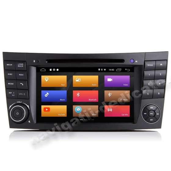 Navigatie Android 10 Mercedes Clasa E W211 CLS W219 NAVD-MT090