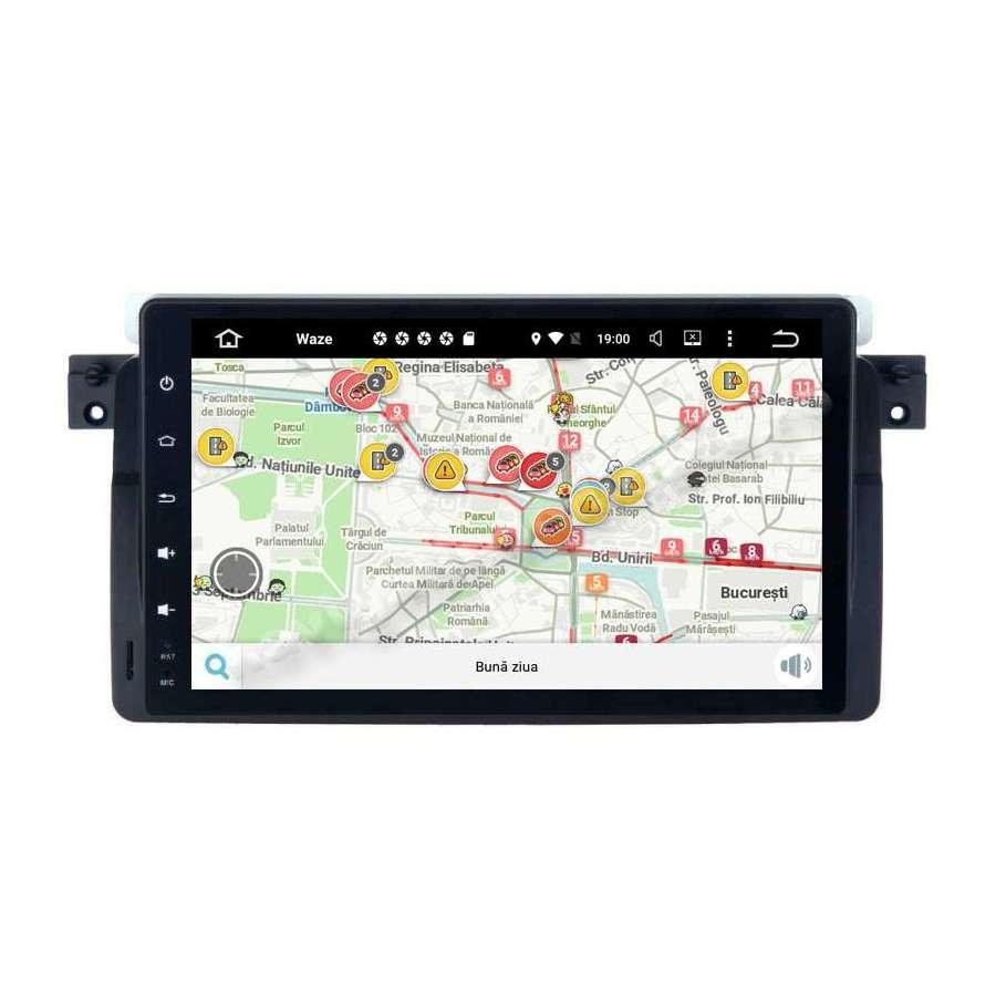 Navigatie Android 10 Ecran 9 inch BMW E46 Rover 75 Intel 2GB Ram NAVD-MT9052