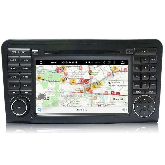 Navigatie Android 10 Mercedes Benz Ml W164 Class Dvd Gps Carkit NAVD-MT219