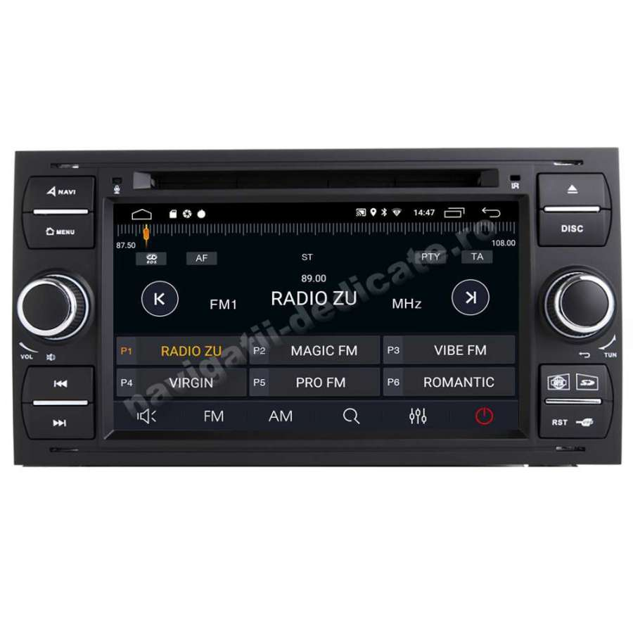 Navigatie Android Ford FOCUS FIESTA FUSION KUGA INTERNET NAVD-MT9488BK