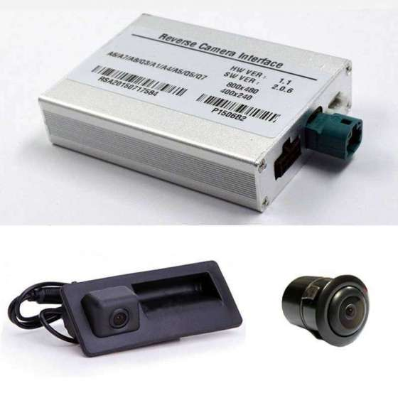 Camera Marsarier video spate + fata Audi A4 A5 A3 A6 Q5 Q7 Q2 Vw Golf 7 Polo Skoda Octavia 3 Porsche MIB