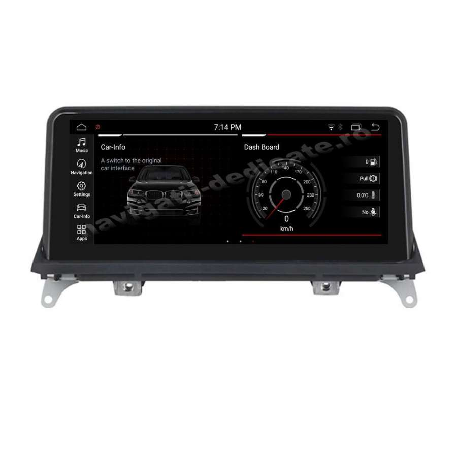 Monitor Navigatie Android BMW X5 E70 X6 E71 Bluetooth GPS USB NAVD-8215