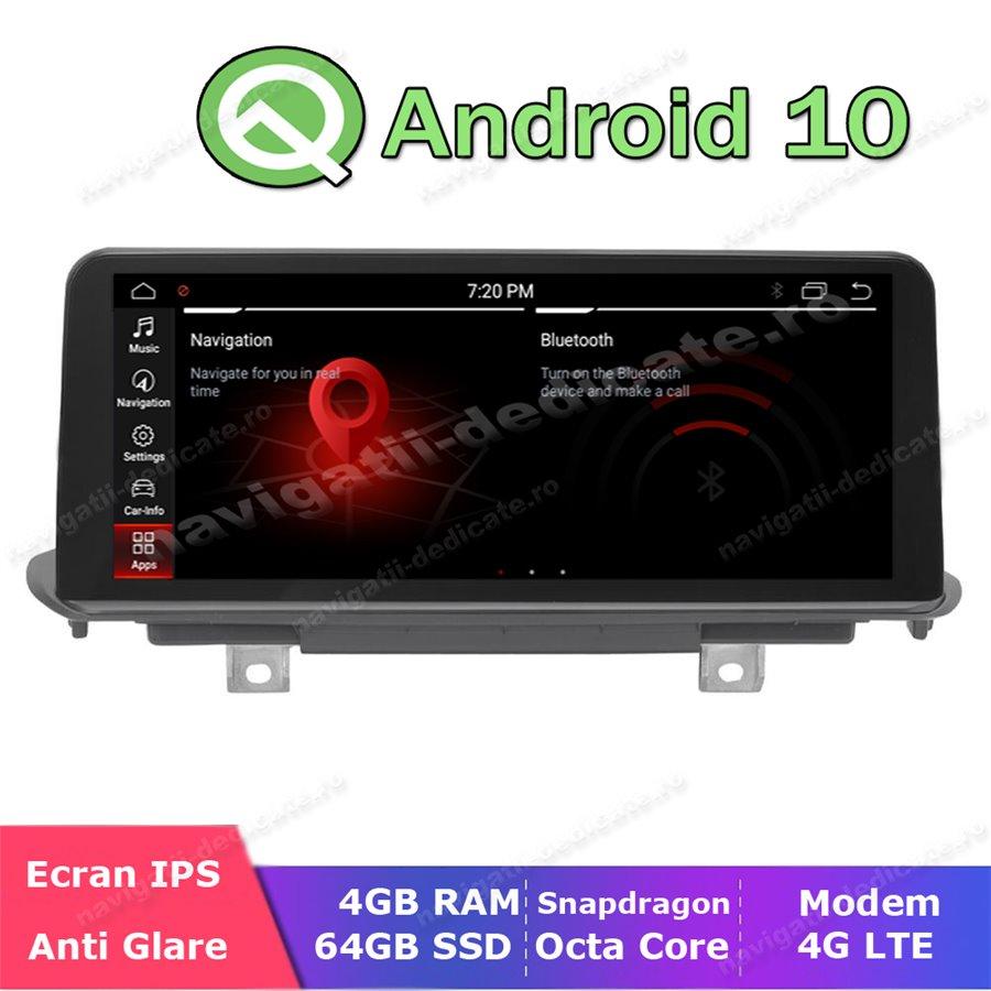 Monitor Navigatie Dedicata Android Bluetooth GPS USB BMW X5 F15 X6 F16 NAVD-F15