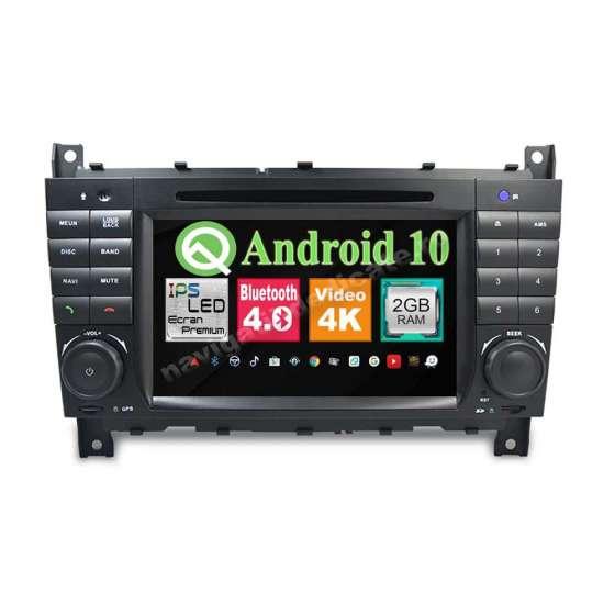 Navigatie Android 10 MERCEDES BENZ W203 C CLASS CARKIT NAVD-MT5517