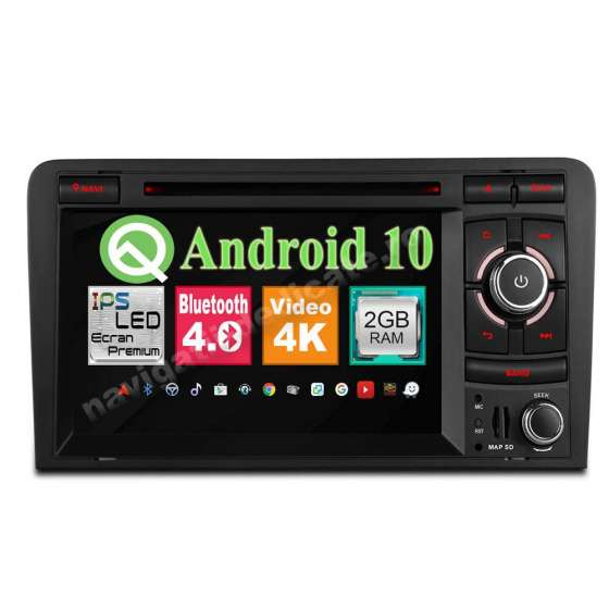 Navigatie Android 10 Audi A3 2GB RAM NAVD-MT049