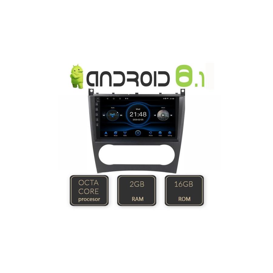 Navigatie Android Octa Core MERCEDES BENZ W203 C CLASS CARKIT NAVD-L093