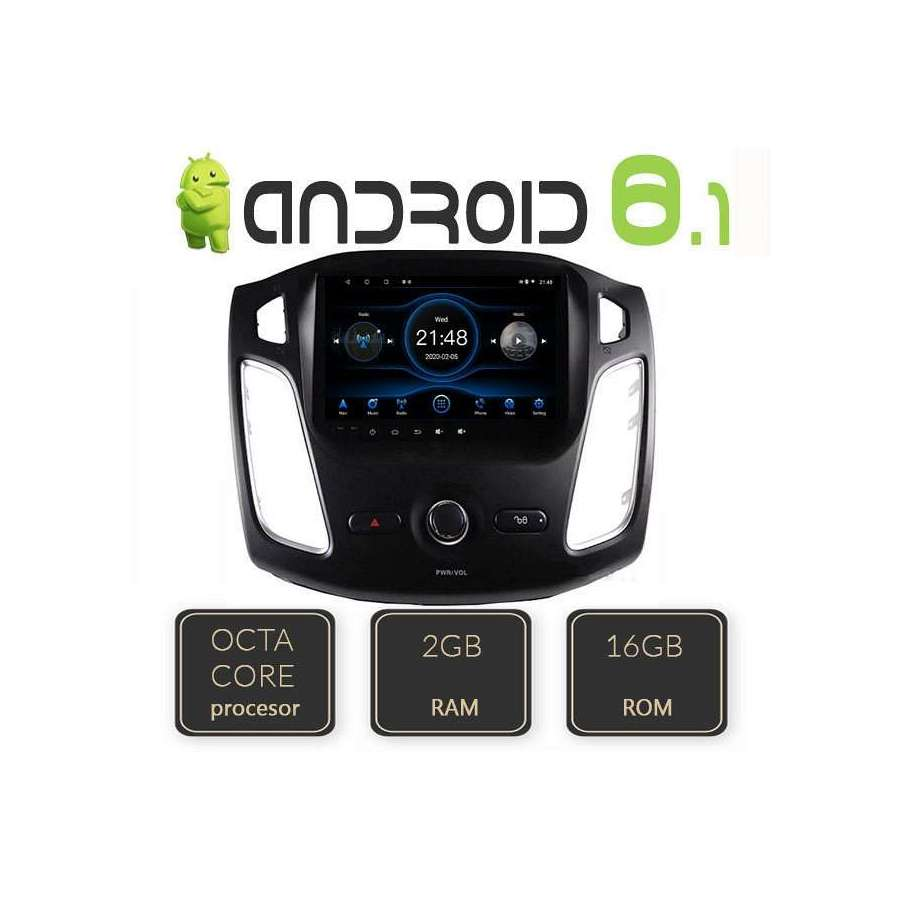 Navigatie Android Ford Focus 3 2011 Octa Core GPS CARKIT NAVD-L150