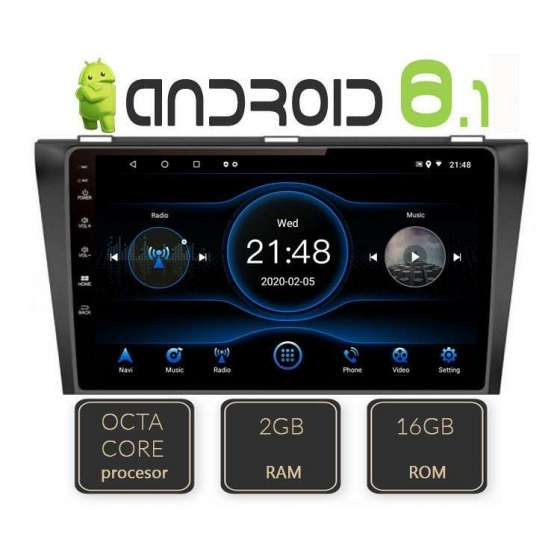 Navigatie Android MAZDA 3 2010 Octa Core Gps Internet NAVD-L034